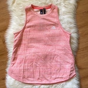 🆕 ADIDAS CORAL PINK WORK OUT SLEEVELESS TANK